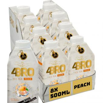4BRO Ice Tea Peach 8x 0,5l