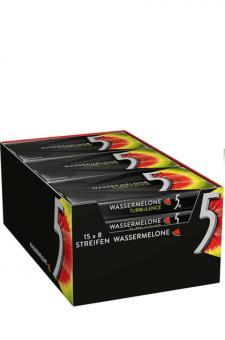 Wrigley 5 Gum  Wassermelone (Turbulence) 15x 8er