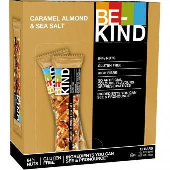 BE-KIND Caramel Almond & Sea Salt 12x 40g