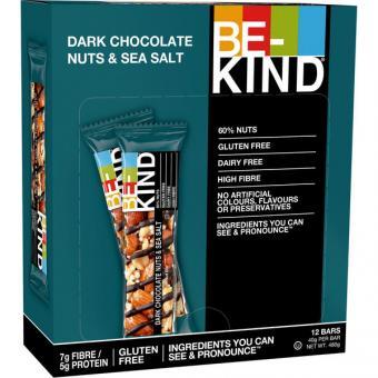 BE-KIND Dark Chocolate Nuts & Sea Salt 12x 40g