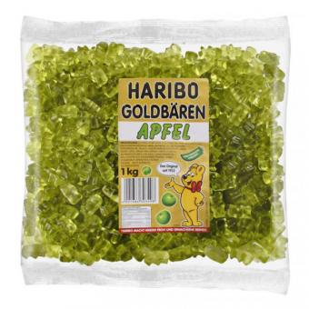 Haribo Goldbären - SORTENREIN grün  - Apfel 1kg