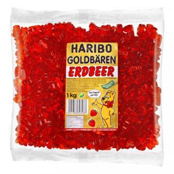 Haribo Goldbären - SORTENREIN rot - Erdbeer 1kg