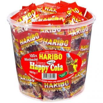 Haribo Happy Cola / Colafläschchen Minibeutel 100 Stück