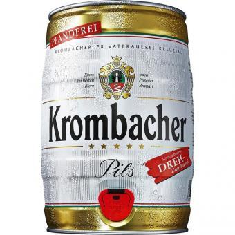 Krombacher Pils 2x 5l Fässer EINWEG pfandfrei