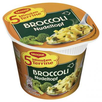 Maggi 5 Minuten Terrine Broccoli Nudeltopf 8x 50g
