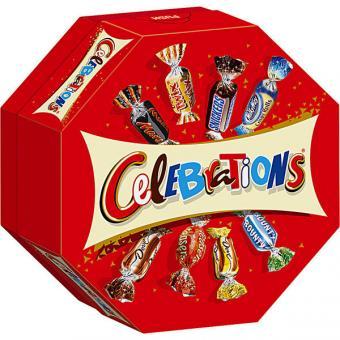 Celebrations, Mars, Bounty, Snickers, u.a. 8x 186g