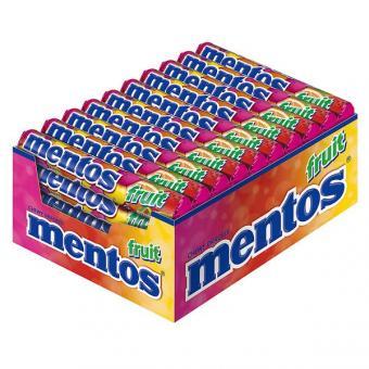 Mentos Frucht Kaubonbon 40x 38g Rollen