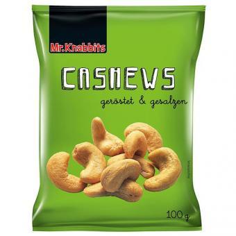 Mr. Knabbits Cashews 24x 100g