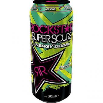 Rockstar Super Sours Energy Drink Green Apple 12x 0,5L EINWEG Dose