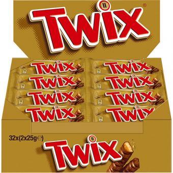 Twix 32 Schokoriegel 50g