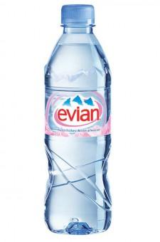 Evian Mineralwasser 24x 0,5l EINWEG Flasche