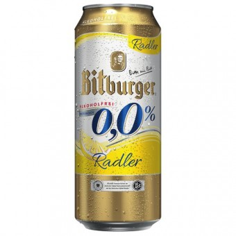 Bitburger Radler alkoholfrei 24x 0,5L EINWEG Dose