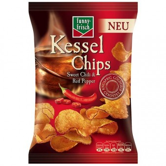 Funny-Frisch Kessel Chips Sweet Chili&Red Pepper 10x 120g