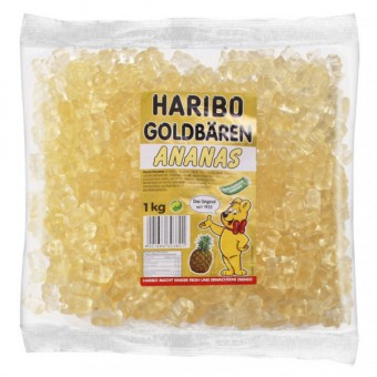 Haribo Goldbären - SORTENREIN weiß - Ananas 1kg