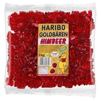 Haribo Goldbären - SORTENREIN dunkelrot - Himbeer 1kg