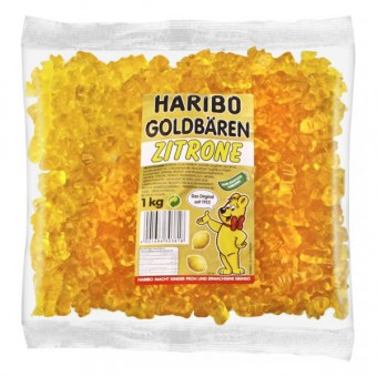Haribo Goldbären - SORTENREIN gelb - Zitrone 1kg