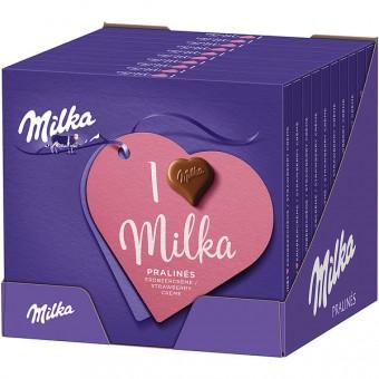 I Love Milka Pralinés Erdbeercrème 10x 110g
