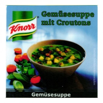 Incup gef. m. Knorr - Gemüse Croutons Stange a 25 Becher