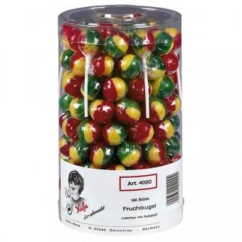 Küfa Frucht-Kugel Lolly 100 Stück