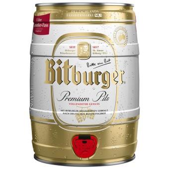 Bitburger Premium Pils 2x 5l Fässer EINWEG pfandfrei