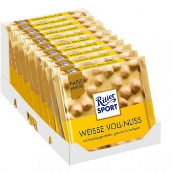 Ritter Sport Nuss-Klasse Weisse Vollnuss 10x 100g