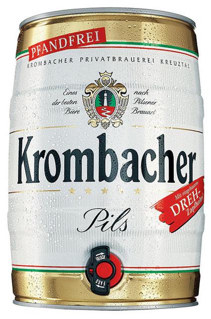 Krombacher Pils 2x 5l Fässer pfandfrei
