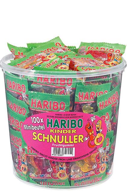 Haribo Kinder Schnuller Minibeutel 100 Stück