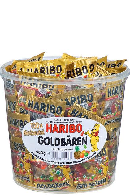 Haribo Goldbären Minibeutel 100 Stück