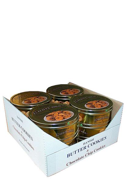 Dänische Butter Cookies & Choco Chip Cookies 12x 500g Dose