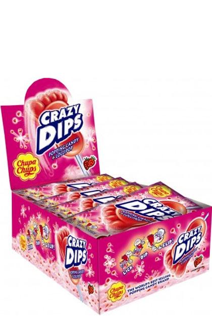 Chupa Chups Crazy Dips Erdbeere 24x 14g