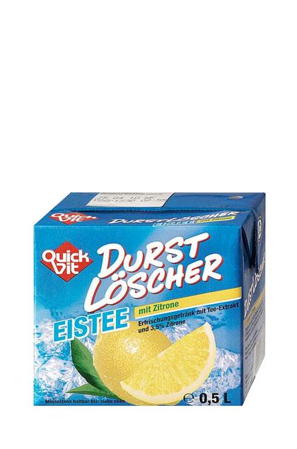 QuickVit Durstlöscher Eistee mit Zitrone 12x 0,5l