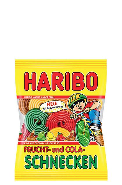 Haribo Frucht- und Cola Schnecken gefüllt 18x 175g