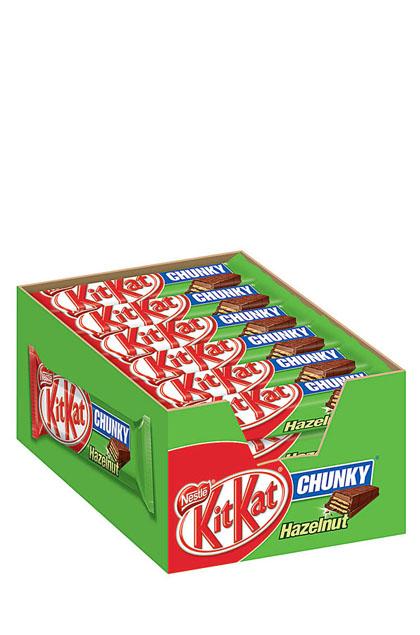 Kitkat Chunky Hazelnut 24 Schokoriegel 42g