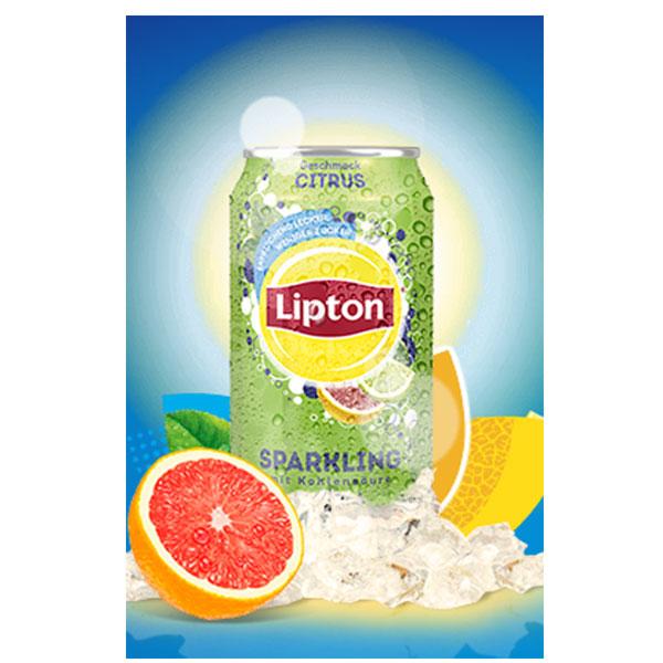 lipton sparkling ice tea citrus 24x 0 33l dose g nstig online bestellen. Black Bedroom Furniture Sets. Home Design Ideas