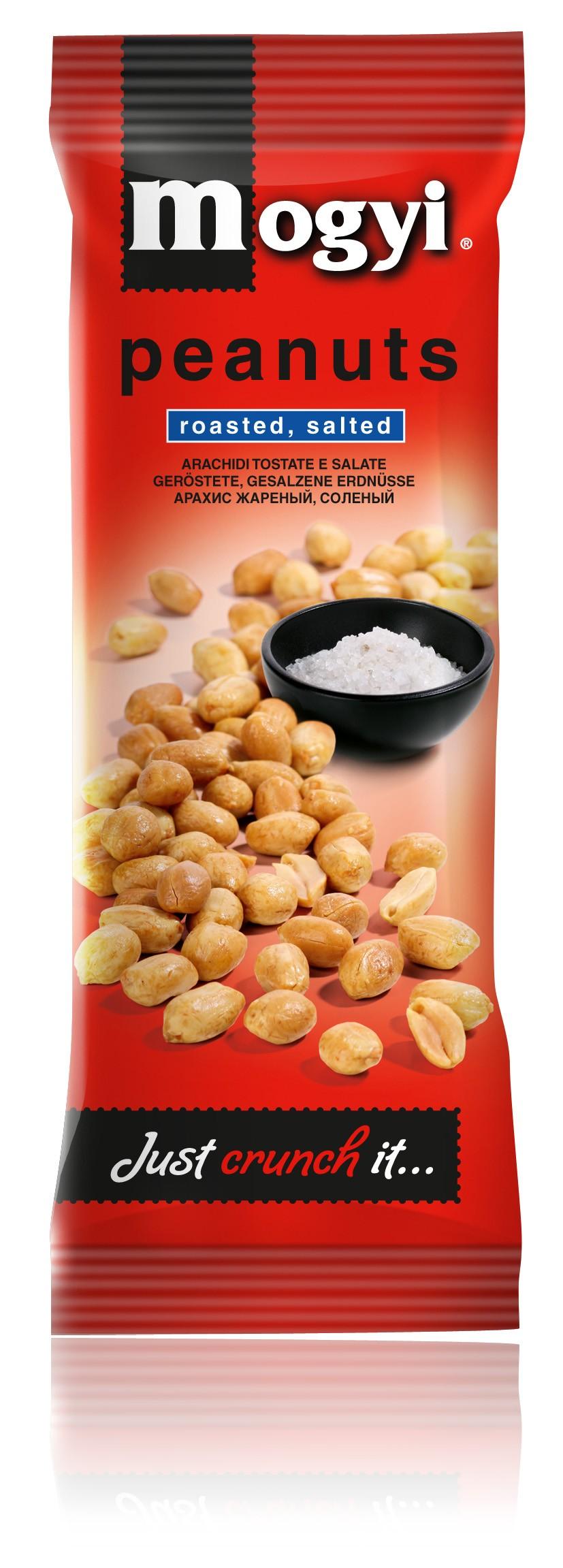 Mogyi Erdnüsse geröstet- gesalzen 100g 30 Beutel