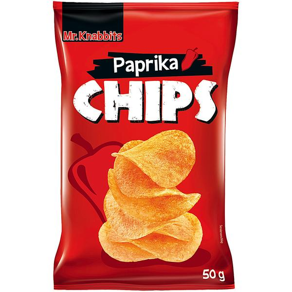 mr knabbits paprika chips 24x 50g g nstig online bestellen. Black Bedroom Furniture Sets. Home Design Ideas