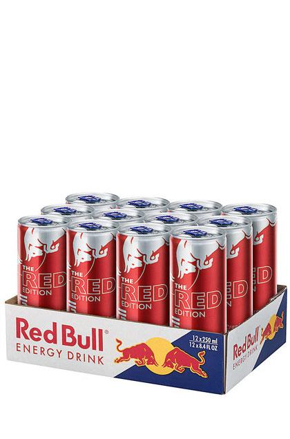 red bull red edition 12x 0 25l g nstig online bestellen. Black Bedroom Furniture Sets. Home Design Ideas