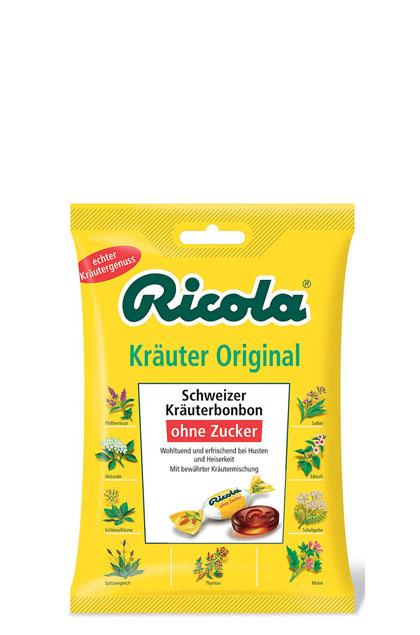 Ricola Kräuterzucker ohne Zucker 18x 75g