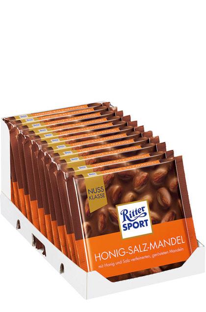 Ritter Sport Nuss-Klasse Honig-Salz-Mandel 11x100g
