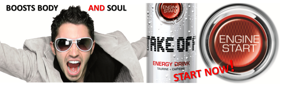 Banner Take Off Energy Drink