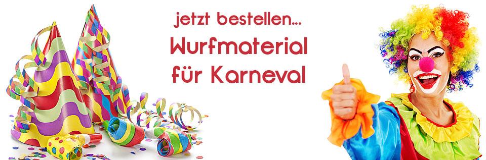 Banner Karneval Wurfmaterial